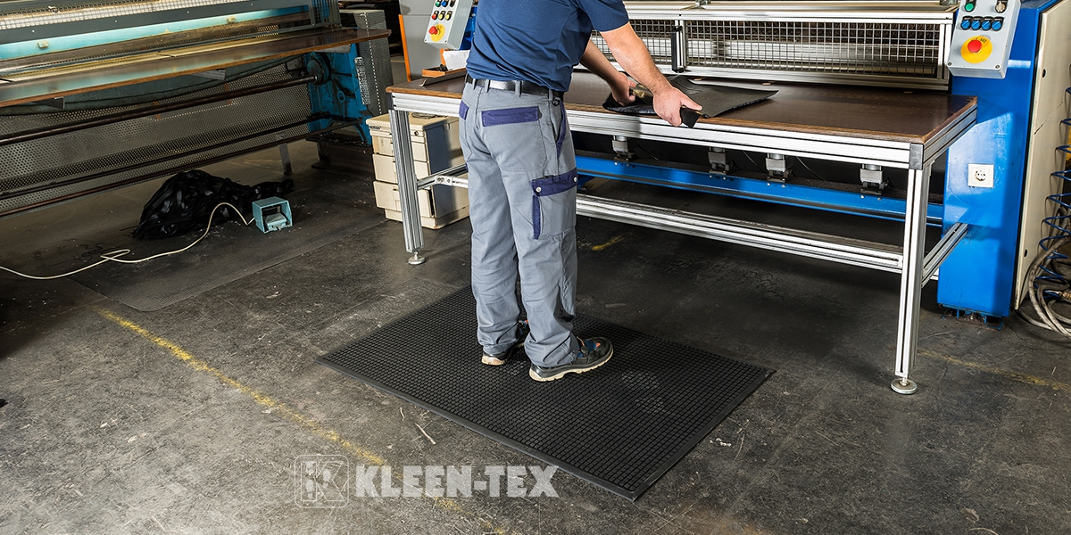 Kleen-Cushion in industrial workplace