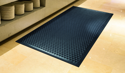 Cushion-Coil mat in a professional kitchen