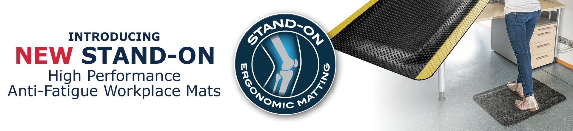 Stand-On Anti-Fatigue Workplace Mat Range